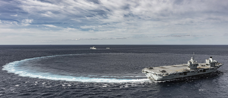 On-board demonstrations to further prover higher capacity secure connectivity to the UK aircraft carriers